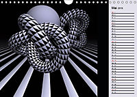 3 Dimensionen - 2 Farben (Wandkalender 2019 DIN A4 quer) - Produktdetailbild 5