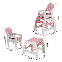 3 in 1 Kinderhochstuhl mit Schaukel (Farbe: rosa) - Produktdetailbild 2
