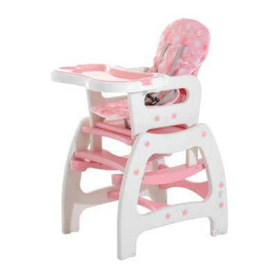 3 in 1 Kinderhochstuhl mit Schaukel (Farbe: rosa)