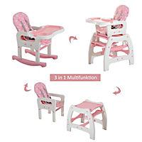 3 in 1 Kinderhochstuhl mit Schaukel (Farbe: rosa) - Produktdetailbild 1