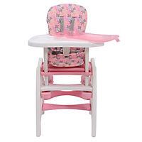 3 in 1 Kinderhochstuhl mit Schaukel (Farbe: rosa) - Produktdetailbild 3