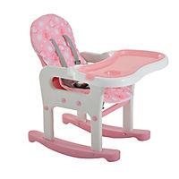 3 in 1 Kinderhochstuhl mit Schaukel (Farbe: rosa) - Produktdetailbild 5