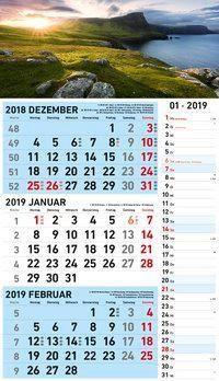 3-Monats Kombiplaner 2019