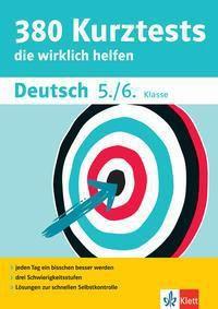 380 Kurztests die wirklich helfen: Deutsch 5./6. Klasse -  pdf epub