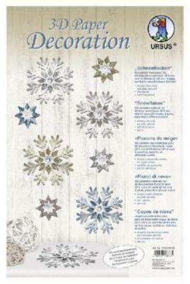 3D Paper Decoration Schneeflocken, URSUS®