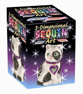 3D Sequin Katze