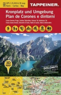 3D Wanderkarte Kronplatz und Umgebung; Carta escursionistica 3D - Plan de Corones e dintorni