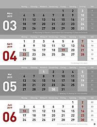 4-Monats-Planer 2019 - Produktdetailbild 7