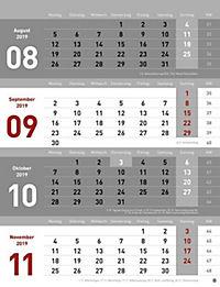 4-Monats-Planer 2019 - Produktdetailbild 12