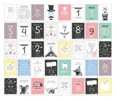 40 Baby Meilenstein-Karten für das 1. Lebensjahr für Mädchen und Junge - Sophie Heisenberg |