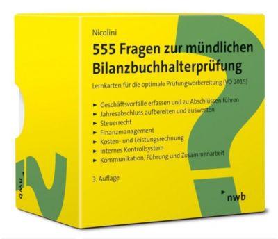 555 Fragen zur mündlichen Bilanzbuchhalterprüfung, Hans J. Nicolini
