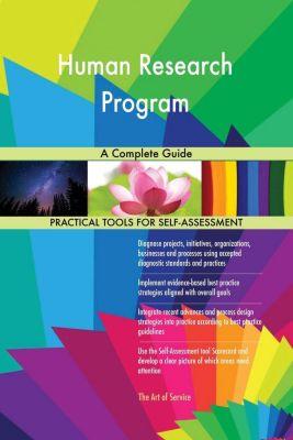 5STARCooks: Human Research Program A Complete Guide, Gerardus Blokdyk