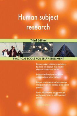 5STARCooks: Human subject research Third Edition, Gerardus Blokdyk