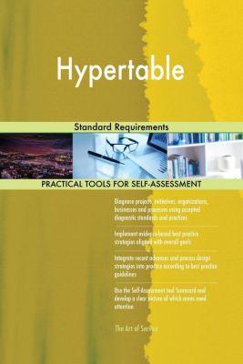 5STARCooks: Hypertable Standard Requirements, Gerardus Blokdyk