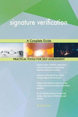 5STARCooks: signature verification A Complete Guide, Gerardus Blokdyk