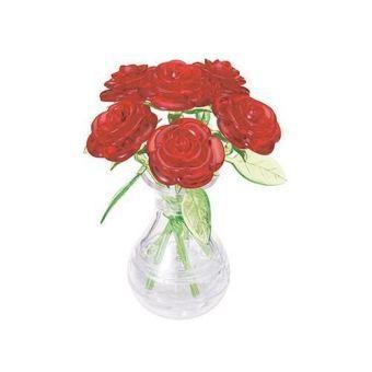 6 rote rosen in der vase puzzle jetzt bei bestellen. Black Bedroom Furniture Sets. Home Design Ideas