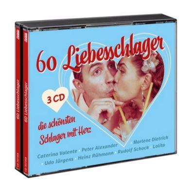 60 Liebesschlager - die schönsten Schlager mit Herz, Diverse Interpreten