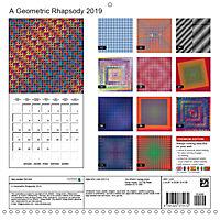 A Geometric Rhapsody 2019 (Wall Calendar 2019 300 × 300 mm Square) - Produktdetailbild 13