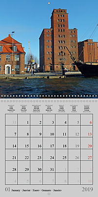 A German Hanseatic city of Wismar (Wall Calendar 2019 300 × 300 mm Square) - Produktdetailbild 1