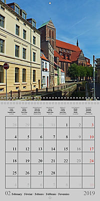 A German Hanseatic city of Wismar (Wall Calendar 2019 300 × 300 mm Square) - Produktdetailbild 2