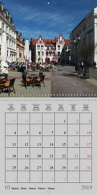 A German Hanseatic city of Wismar (Wall Calendar 2019 300 × 300 mm Square) - Produktdetailbild 3