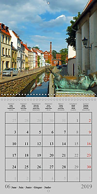 A German Hanseatic city of Wismar (Wall Calendar 2019 300 × 300 mm Square) - Produktdetailbild 6