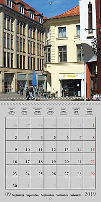 A German Hanseatic city of Wismar (Wall Calendar 2019 300 × 300 mm Square) - Produktdetailbild 9