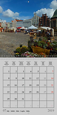 A German Hanseatic city of Wismar (Wall Calendar 2019 300 × 300 mm Square) - Produktdetailbild 7
