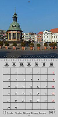 A German Hanseatic city of Wismar (Wall Calendar 2019 300 × 300 mm Square) - Produktdetailbild 12