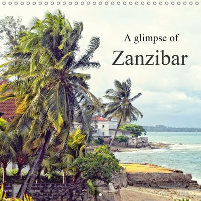 A glimpse of Zanzibar (Wall Calendar 2019 300 × 300 mm Square), Joern Stegen