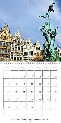 A visit to Belgium (Wall Calendar 2019 300 × 300 mm Square) - Produktdetailbild 1