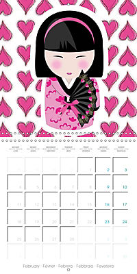 A year of Kokeshi (Wall Calendar 2019 300 × 300 mm Square) - Produktdetailbild 2