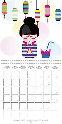 A year of Kokeshi (Wall Calendar 2019 300 × 300 mm Square) - Produktdetailbild 8