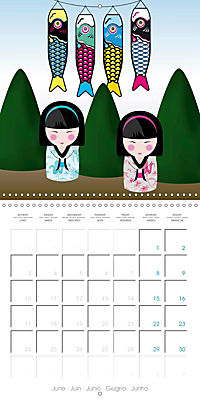 A year of Kokeshi (Wall Calendar 2019 300 × 300 mm Square) - Produktdetailbild 6