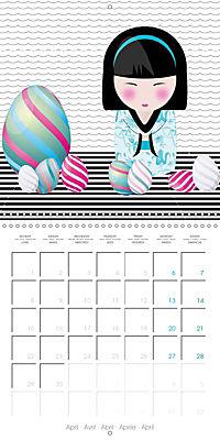 A year of Kokeshi (Wall Calendar 2019 300 × 300 mm Square) - Produktdetailbild 4