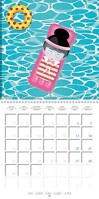 A year of Kokeshi (Wall Calendar 2019 300 × 300 mm Square) - Produktdetailbild 7