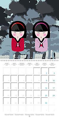 A year of Kokeshi (Wall Calendar 2019 300 × 300 mm Square) - Produktdetailbild 11