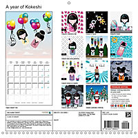 A year of Kokeshi (Wall Calendar 2019 300 × 300 mm Square) - Produktdetailbild 13