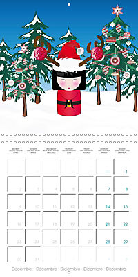 A year of Kokeshi (Wall Calendar 2019 300 × 300 mm Square) - Produktdetailbild 12
