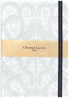 A5 Paseo Embossed Notebook Silver, Christian Lacroix
