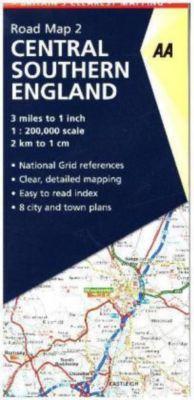 AA Road Map Britain Straßenkarte Central South England