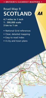 AA Road Map Britain Straßenkarte Scotland
