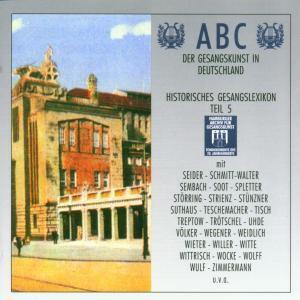 Abc Der Gesangskunst Teil 5, Diverse Interpreten