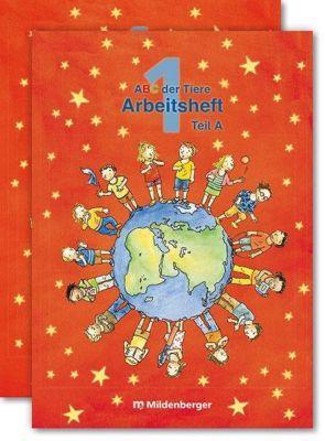 ABC der Tiere, Ausgabe Bayern: 1. Jahrgangsstufe, Arbeitsheft Teil A und B zu Lesen in Silben (Silbenfibel®), m. CD-ROM Hexe Trixi Basic, Klaus Kuhn