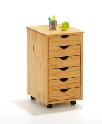 ABC Rollcontainer aus Holz, kiefer