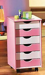 """ABC Rollcontainer """"Pierre"""" (Farbe: rosa/weiß) - Produktdetailbild 2"""