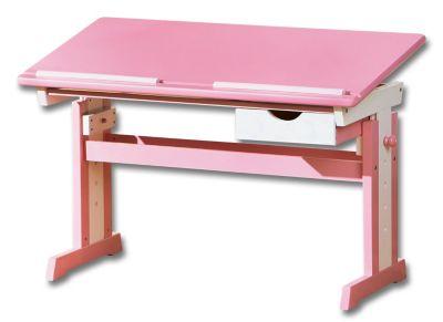 ABC Schreibtisch Cecilia (Farbe: rosa/weiß)