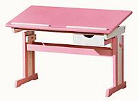 """ABC Schreibtisch """"Cecilia"""" (Farbe: rosa/weiß) - Produktdetailbild 1"""