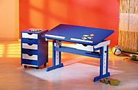 """ABC Schreibtisch """"Paco"""" (Farbe: blau/weiß) - Produktdetailbild 3"""