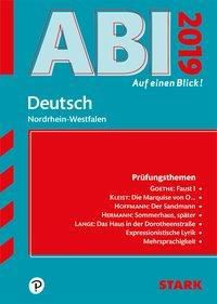 Abi - auf einen Blick! Deutsch Nordrhein-Westfalen 2019